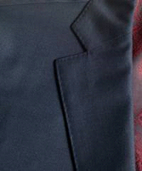 stitching on a suit