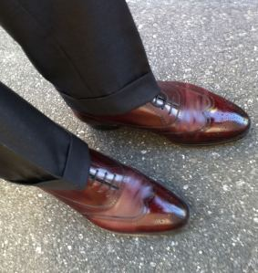 well fitted suit pant cuffs