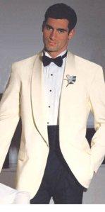 White Tuxedo with shawl lapels