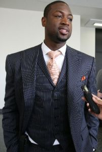 Dwayne Wade well dressed
