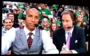 Reggie Miller showing how it's done with a Fall colored tie! Guess that 3 point stroke wasn't the only thing in his repertoire!