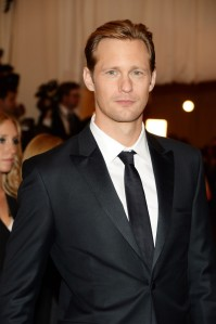 Alexander Skarsgard keeping it classy (at the Met Gala 2013) and elegant with peaked grosgrain lapels and LITERALLY, a black tie!