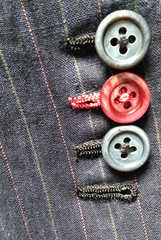 colored button holes