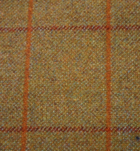 Tweed fabric in windowpane