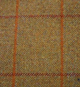 Tweed fabric in windowpane