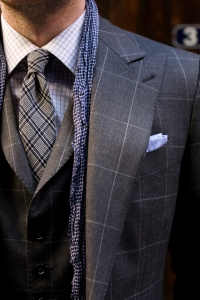Similar Tie Patterns on Suit and Tie