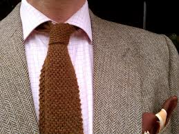 Knitted Woolen Ties compliment textured jackets such as tweed!