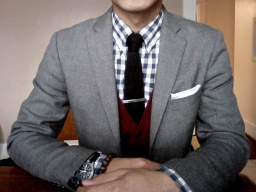 cardigan with a suit