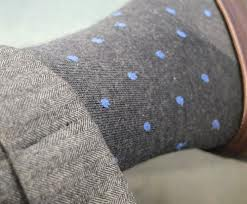 Charcoal grey socks, a shade greater than lighter grey pants, make for a seamless transition
