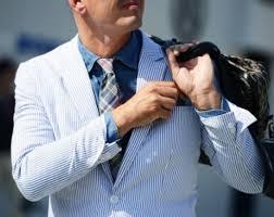 Madras Cotton Tie with a Seersucker Suit