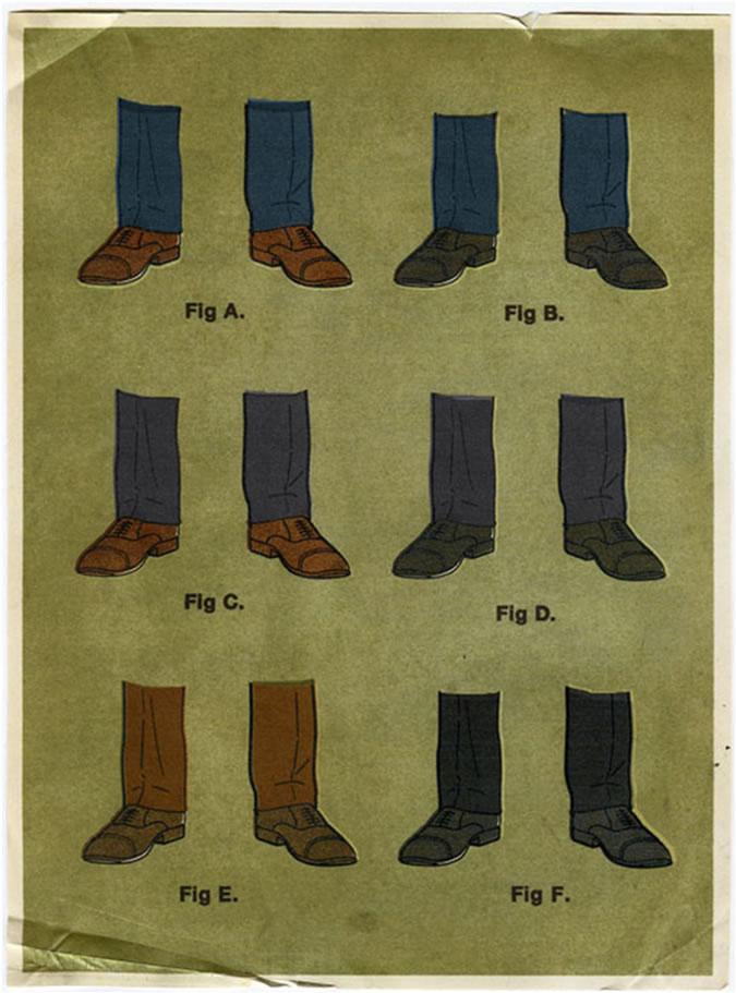 Trouser shoe combinations