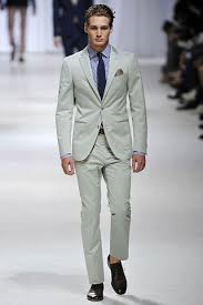 light grey cotton suit