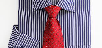 Red Abstract Tie with Blue Shirt