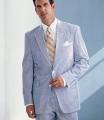 A seersucker suit with a colorful tie can look great during the summer!  Courtesy of Art of Manliness www.artofmanliness.com