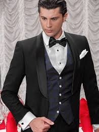The WaistCoat for a Black Tie Event is typically cut lower so as to expose more dress shirt, and allows for a narrower 'V' so as to expose the vest and not be hidden by the tuxedo jacket.