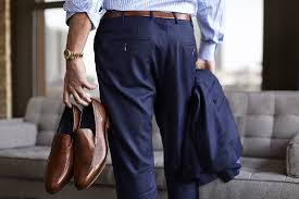 Always wear brown shoes with a brown belt.  Picture courtesy of Trunk Club.  http://www.trunkclub.com