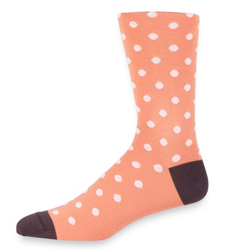 Paul Fredrick Coral Dotted Socks